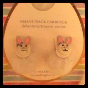 Poof Butt Bunny Earrings :)